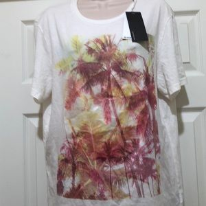 New Kenneth Cole Reaction Print T-SHIRT Size L